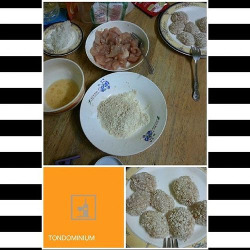 Homemade Chicken Nuggets in a bit. :) Beforeourmoviedate Lunchwithmylove Lunch