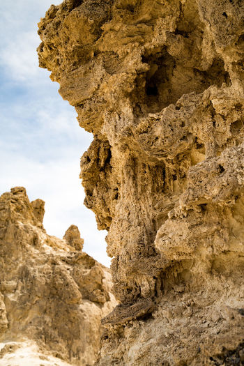 Rock formation against sky