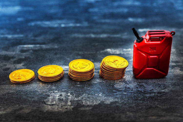 Crude OPEC Barrel Business Close-up Coin Communication Crisis Day Economy Finance Focus On Foreground Food Food And Drink Group Of Objects Indoors  Medium Group Of Objects No People Oil Plastic Red Selective Focus Snack Still Life Table Wood - Material Yellow