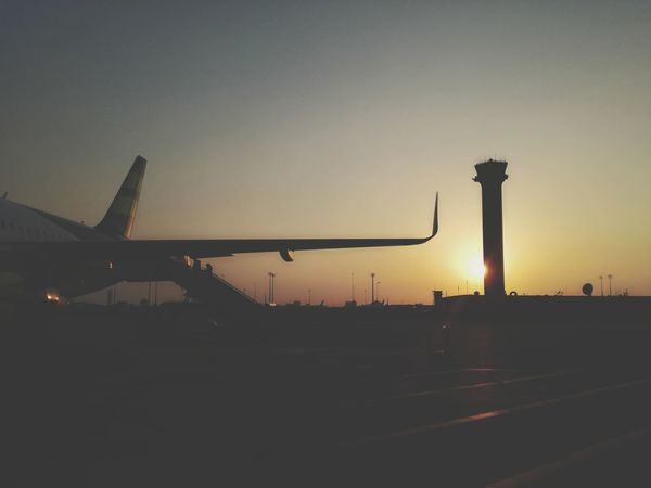 #Wings #holiday #Airport #airplane Silhouette Sunset Travel Destinations Business Finance And Industry No People Sky Day Outdoors