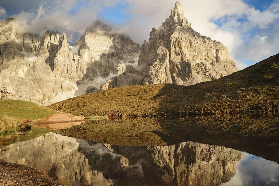 Cimon Dolomites Dolomiti Italy Lake Landscape Mountain Nature No People Outdoors Pale Di San Martino Reflection San Martino Di Castrozza Sky Trentino Alto Adige Water