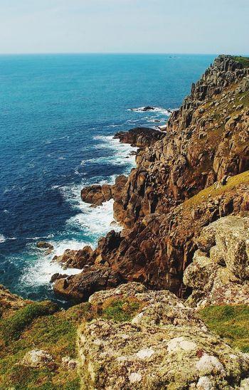 Cornish Cliffs Horizon Over Water Rocky Coastline Scenics Beach Beauty In Nature Outdoors No People Rock Water Nature Sea Landscape Cornwall