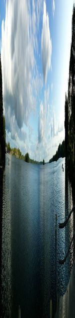 Water Cloud - Sky Spraying Sky Accidents And Disasters Nature Outdoors Blue Tree Power In Nature Day No People Hot Spring Vacations Panorama Plönersee Plöner See Panoramic Photography Tree Panorama View Beauty In Nature