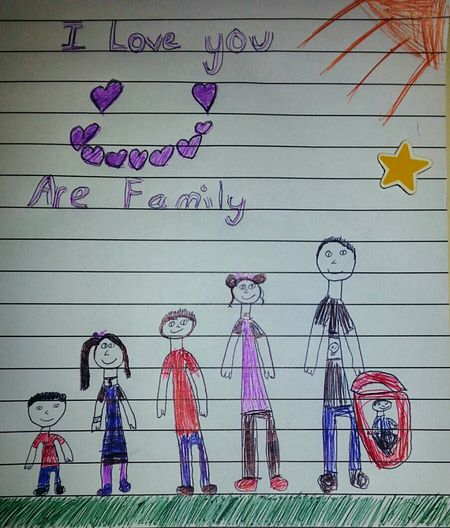 On Paper Family Child Drawing