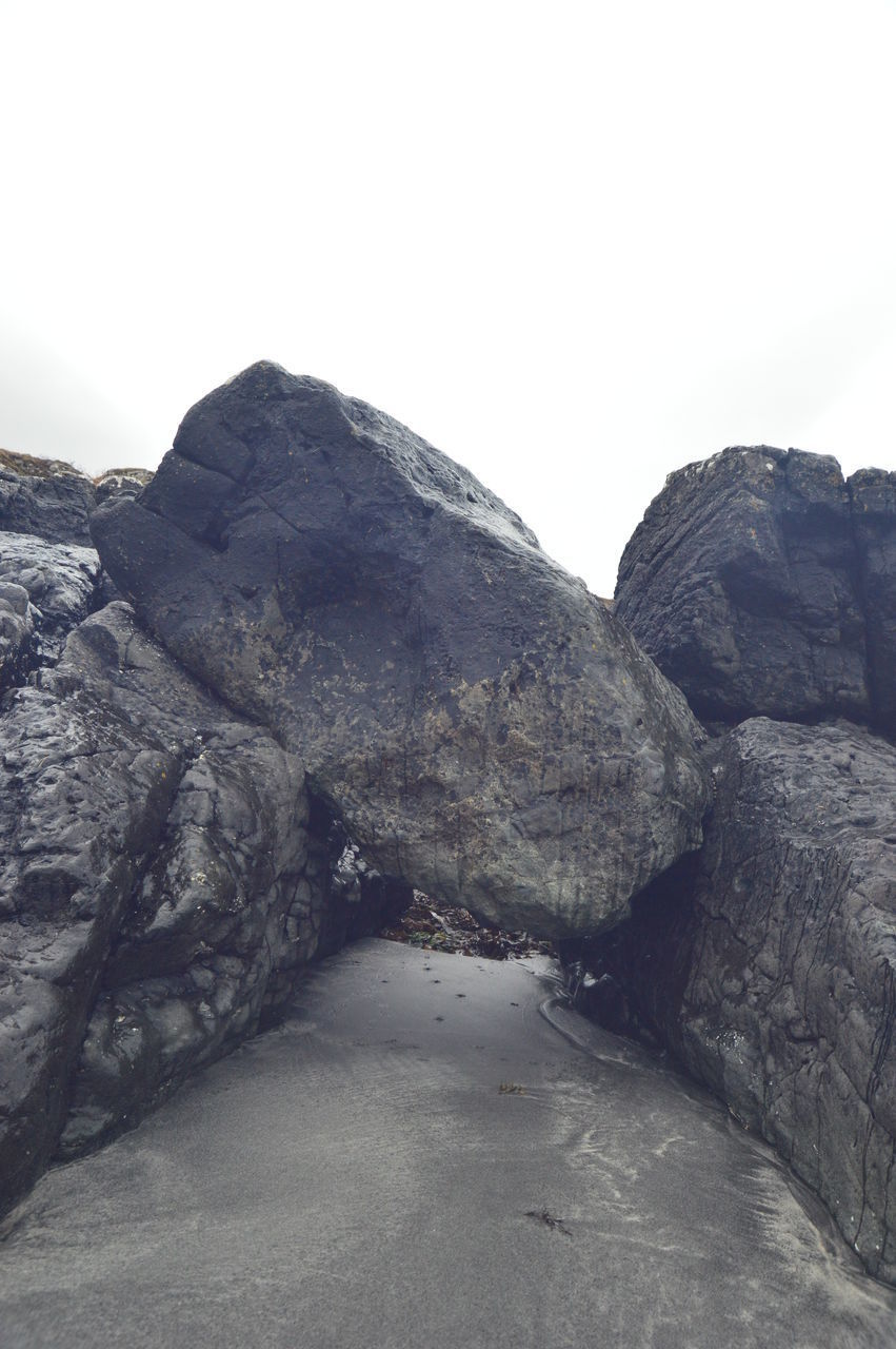 ROCK FORMATIONS ON LAND AGAINST SKY