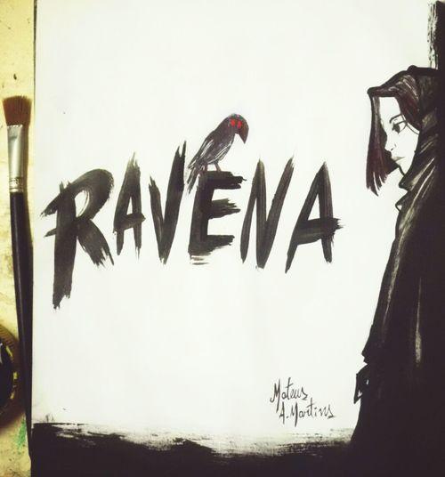"""O nome Ravena tem o significado de """"corvo"""", mas também de """"inteligente"""" e """"sábia"""". Isso porque os corvos são aves que apresentam como característica principal os seus sinais de inteligência. Desenho Draw Dibujo Art Drawing Design Sketchbook Pencil Drawing Fanart Criatividade Pencilart Criativity Multi Colored Love Beautiful Woman Sketch Color Colorful Arte Game Abstract Titans Teen Titans Ravena Gotico"""