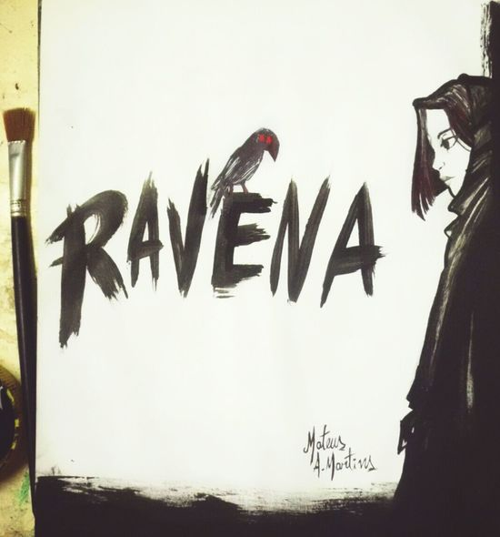 "O nome Ravena tem o significado de ""corvo"", mas também de ""inteligente"" e ""sábia"". Isso porque os corvos são aves que apresentam como característica principal os seus sinais de inteligência. Desenho Draw Dibujo Art Drawing Design Sketchbook Pencil Drawing Fanart Criatividade Pencilart Criativity Multi Colored Love Beautiful Woman Sketch Color Colorful Arte Game Abstract Titans Teen Titans Ravena Gotico"