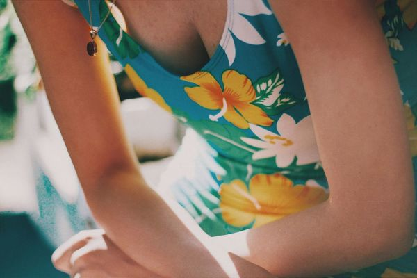 Where did the summer go ? Swimming Summer Human Body Part One Person Human Hand Indoors  Hand Women Pattern Close-up Flower Clothing Floral Pattern Adult