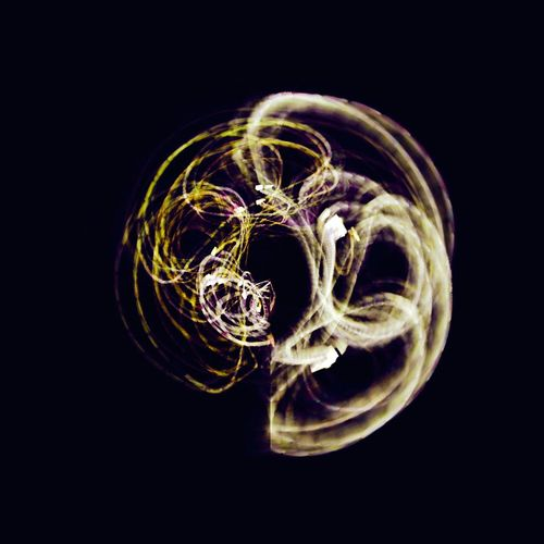 Close-up of light painting