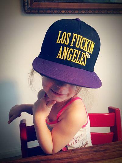 Los Angeles, California Cute♡ Girl Girl With Cap Babygirl