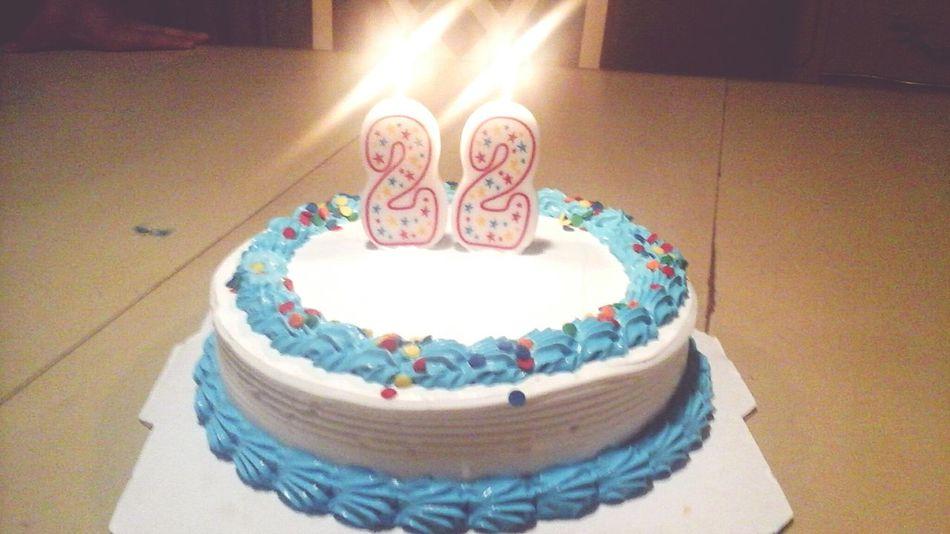 took a photo,my birthday cake,