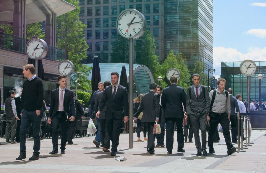 London Business Coworker Businessman Corporate Business Large Group Of People Well-dressed Suit Men People City Outdoors Day Only Men Clocks Time Busy Busy Day Busy City Walk Walking Around Serious