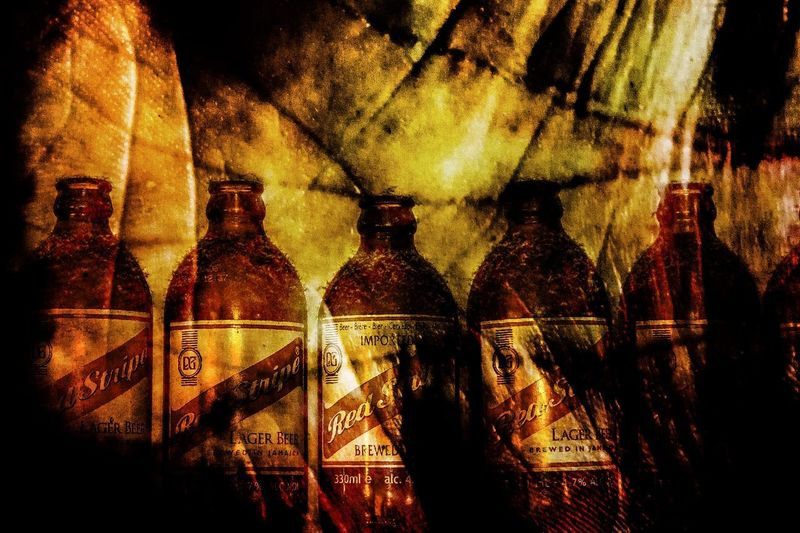 Good Old Jamaican Lager - Merged With The Lines Of My Hand Red Stripe Beer Colorful Colors Grunge Hand Edit Photoshop Beer Bottle Indoors  No People Food And Drink Alcohol Drink Close-up EyeEmNewHere Love Yourself