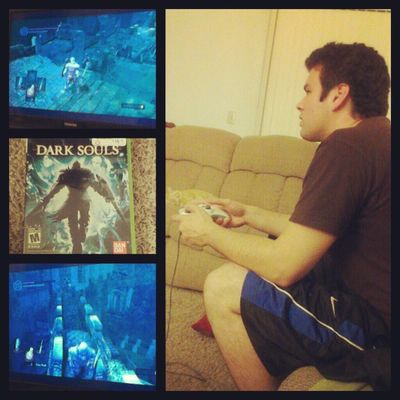 My #husband is playing #darksouls...I think its time for me to call it a night. #Xbox360 #wtfgamersonly Videogames Wtfgo Gamingcouple