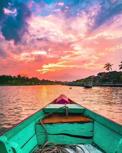 You were right Captain Dan. It was a beautiful sunset! Nautical Vessel Sky Beauty In Nature Nature Outdoors No People Sunset Lake Cloud - Sky Water Tree Day River Clouds Vietnam Boat The Secret Spaces The Great Outdoors - 2017 EyeEm Awards Live For The Story EyeEm Selects The Week On EyeEm Lost In The Landscape Lost In The Landscape Summer Sports