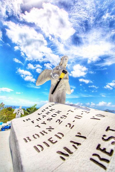Mic drop angels Sky Skyporn Sky And Clouds Angel Angels Grave Graveyard Beauty Graveyard Blue Blue Sky Cloud Clouds And Sky Caribbean Nevis St. Kitts And Nevis Churchyard Mic Drop