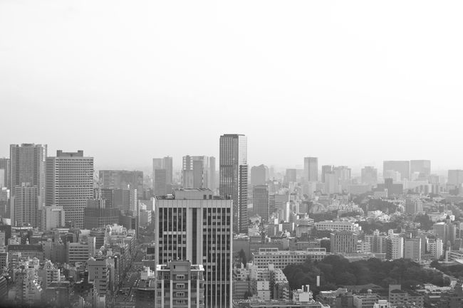 Tokyo skyline Architecture Black And White Building Exterior Built Structure City Cityscape Clear Sky Day Japan Japanese  Metropolis Modern No People Outdoors Sky Skyline Skyscraper Tokyo