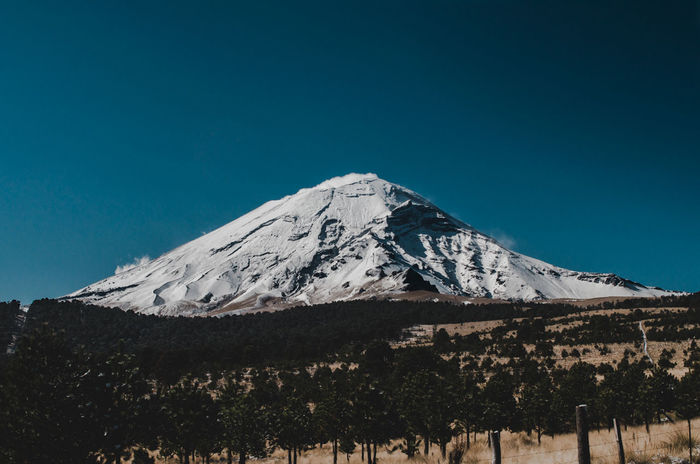 Volcan Popocatépetl ❤️🌋 Mountain Snow Snowcapped Mountain Mountain Peak No People Mountain Range Outdoors Landscape Clear Sky Travel Destinations Sky Nature Cold Temperature Day Scenics Winter Beauty In Nature The Week On EyeEm Lost In The Landscape