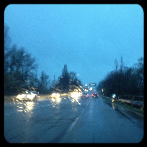 Street Commuting Blue Sky Rainy Days