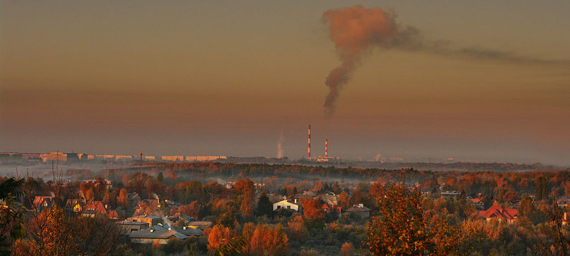 Poland City Łódź Panorama, City, Sky, Clouds,