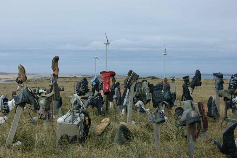 Boot Hill Falkland Islands Wind Turbines