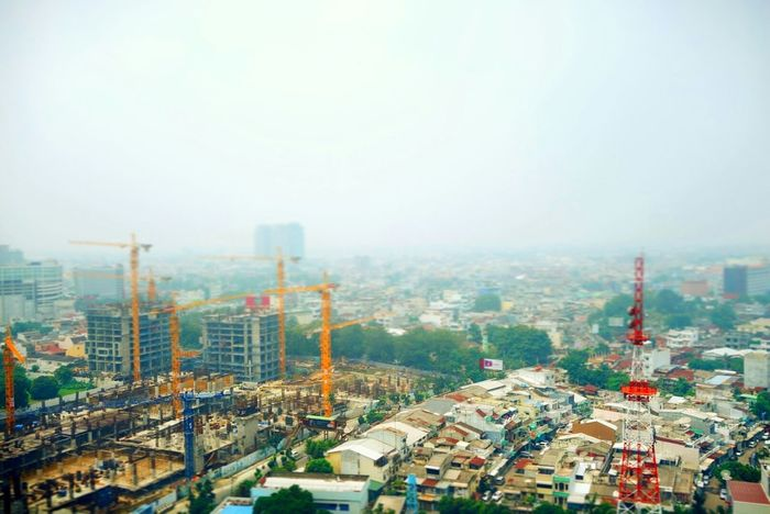 Doll city from Big heart Taking Photos Enjoying Life Hanging Out Buildings & Sky Cityscape Medan,indonesia