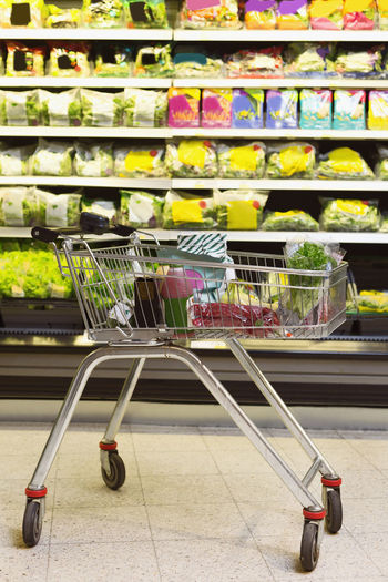 Shopping cart in store