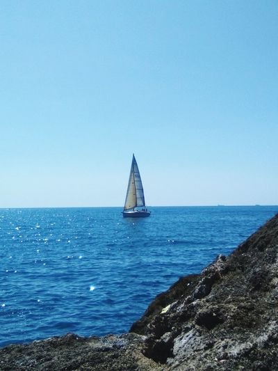 Sea Business Finance And Industry Horizon Over Water Sailboat Sailing Travel Destinations Blue