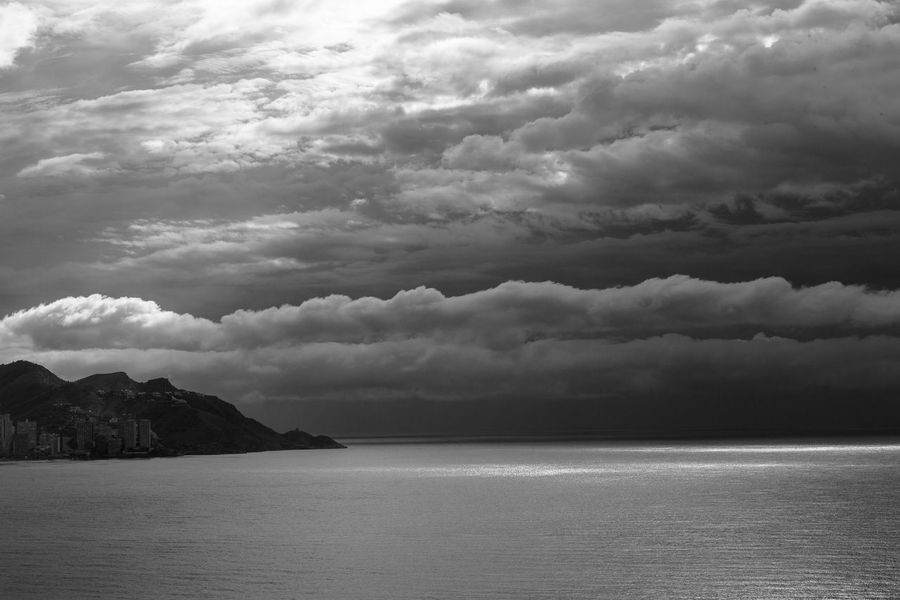 Beauty In Nature Cloud - Sky Horizon Horizon Over Water Nature No People Ominous Outdoors Scenics - Nature Sea Sky Storm Tranquil Scene Tranquility Water Waterfront