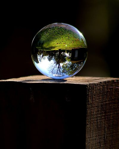 Nature Photography Nature Glass - Material Close-up Crystal Ball No People Sphere Reflection Nature Transparent Black Background Shape Glass Still Life