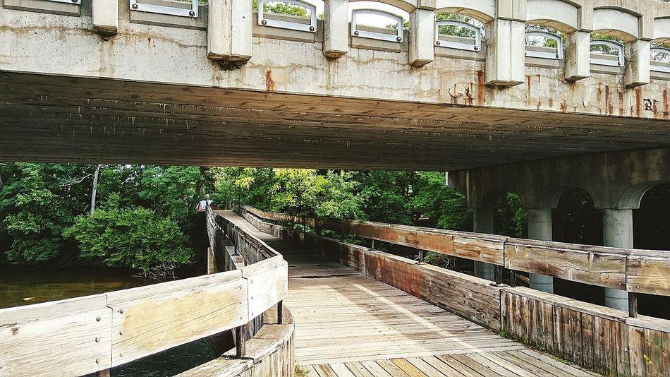 Wooden Bridge Wood Huron River Walkway Michigan Ypsilanti