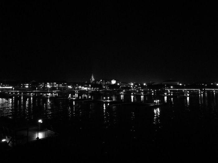 Ystadssaltsjöbad Night Illuminated City Reflection Sky Outdoors Building Exterior Cityscape No People Architecture Water First Eyeem Photo