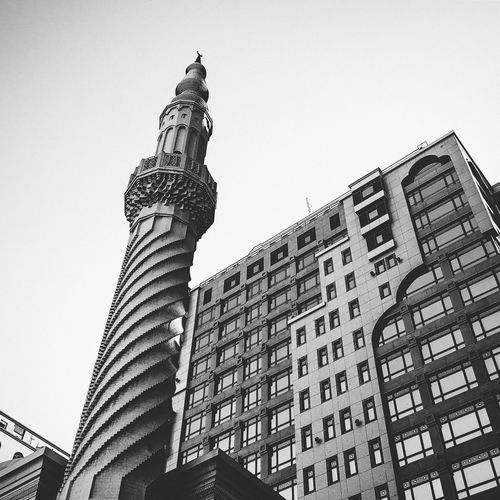 Architecture Architecture Black And White Blackandwhite Building Exterior Built Structure City Clear Sky Day Islamic Architecture Low Angle View Minimalist Architecture No People Old Architecture Old Buildings Outdoors Sky