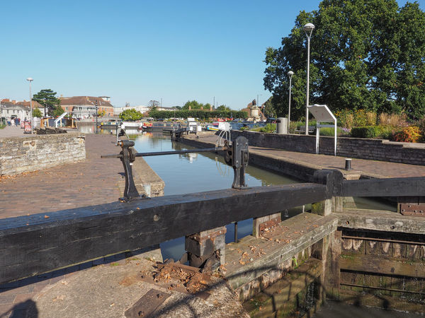 Water lock in Stratford-upon-Avon Shakespeare Stratford Stratford Upon Avon Stratford-upon-Avon Canal Canals And Waterways Lock Water Lock