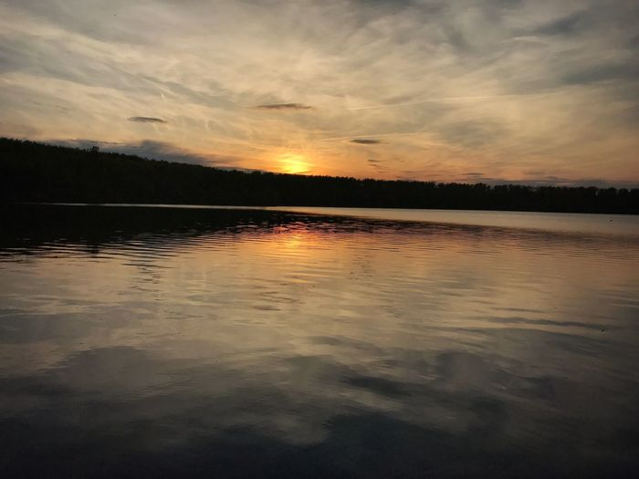Sunset Scenics Nature Beauty In Nature Reflection Tranquility Sky Water Cloud - Sky No People Lake Outdoors Tree
