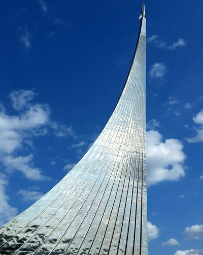 Cosmonaut Museum. Moscow Moscow Space Race Science Rockets Dizzy Blue Sky And White Clouds Business Finance And Industry Skyscraper History City Sky Architecture Building Exterior Built Structure