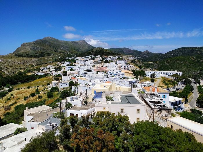 Chora Island Greece Kythira  Kithira Plant Sky Built Structure Architecture Building Exterior Mountain Tree Nature High Angle View Building No People Beauty In Nature Scenics - Nature Residential District Green Color Land Day City Outdoors