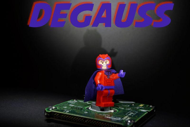 Degauss LEGO Magneto erases harddisk - forever! Or, Eat this NSA !