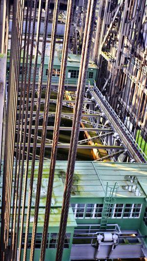 Industry Niederfinow Schiffshebewerk Large Construction Metallic Old Rivets Shiphoist Vintage