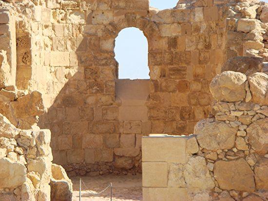 Ancient Ancient Civilization Byzantine Church Fortress Fortress Wall Deserts Around The World Israel Judean Desert Masada Ruins Stone Window