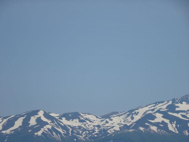 Japan SAKATA YAMAGATA Beauty In Nature Clear Sky Cold Temperature Copy Space Mountain Mountain Top Mt.chokaisan Snow Snowcapped Mountain