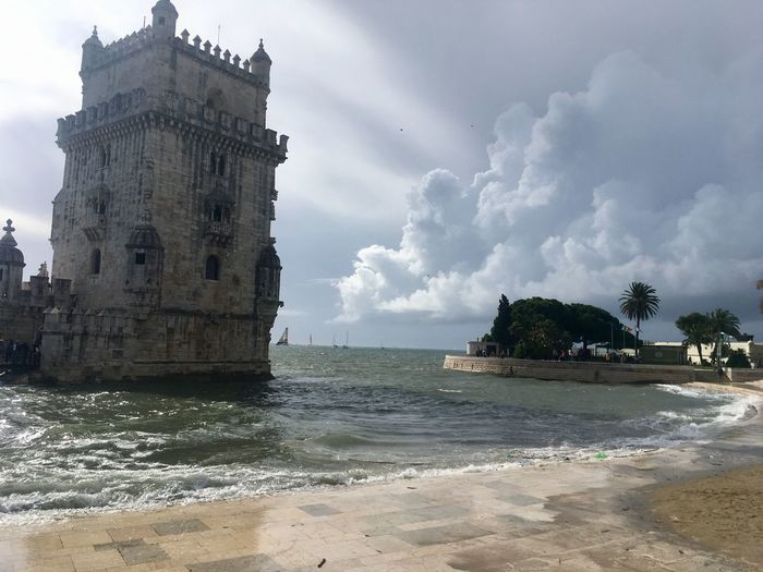 Lisbon Cloud - Sky Sea Beach Architecture Tower No People Belem Tower Outdoors Lisbonlovers