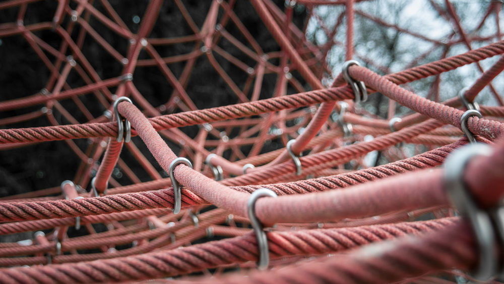 Day Focus On Foreground Net No People Outdoors Playground Protection Rope Schloss Dankern Selective Focus Strength