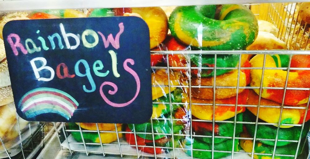 Bagels Rainbow Pride Art Foodphotography Taking Pictures Borough Of Bronx Enjoying Life Check This Out Hello World