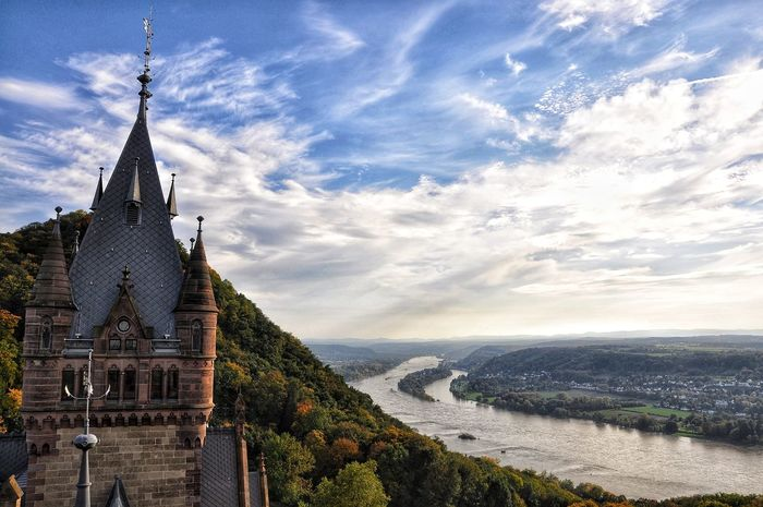 Drachenburg Tree Water Sky Architecture Cloud - Sky Historic Castle