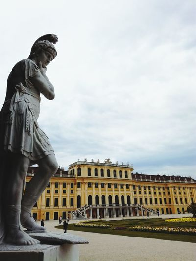History Statue Architecture Palace Travel Destinations Built Structure Statue Building Exterior Cloud - Sky Sculpture Outdoors Adults Only Sky Adult Young Adult Only Men EyeEm Best Shots EyeEm Nature Lover Eyemphotography EyeEmBestPics Architecture Viena, Austria Vienna