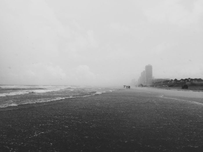 Rainy day in the beach Blackandwhite Beach Florida