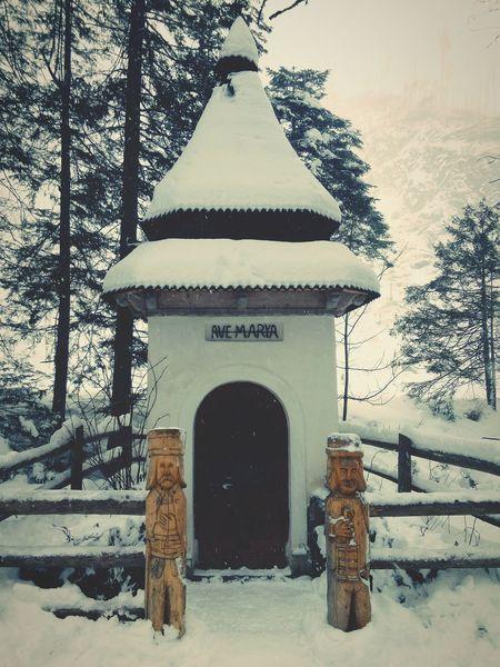 Avemaria Ave Maria Shrine Poland Tatra Tatra Mountains Tatramountains Tatranationalpark Dolinakoscieliska Kościeliska Valley Religion Travel Architecture Traditional Podhale Winter Snow Snowing