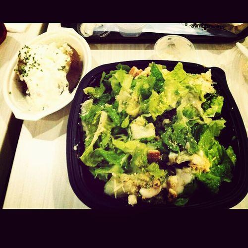 salad..more pls. Eating
