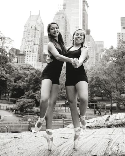 2x2 - Two People City Togetherness Women City Life Happiness Young Women Females Adult Skyscraper Outdoors Young Adult People Smiling Bonding Building Exterior Men New York City Central Park Mister Brown Photography Ballet Dancer Pointe Shoes